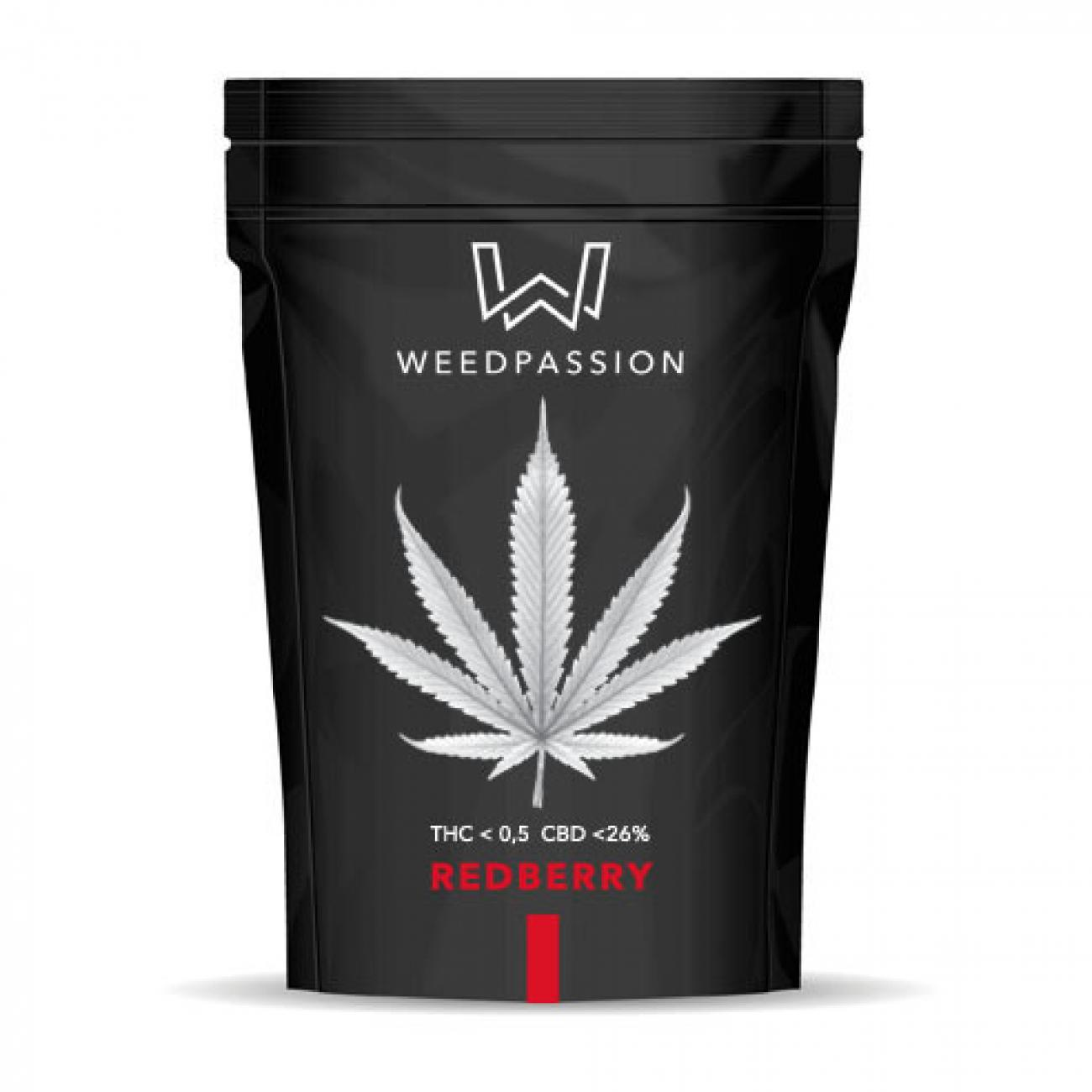 Weedpassion Redberry 26% cbd 1gr.