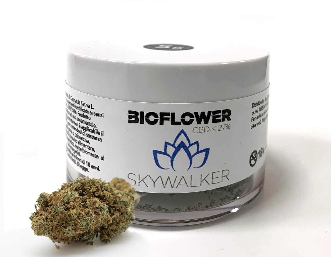 Bioflower Skywalker 27% cbd barattolo