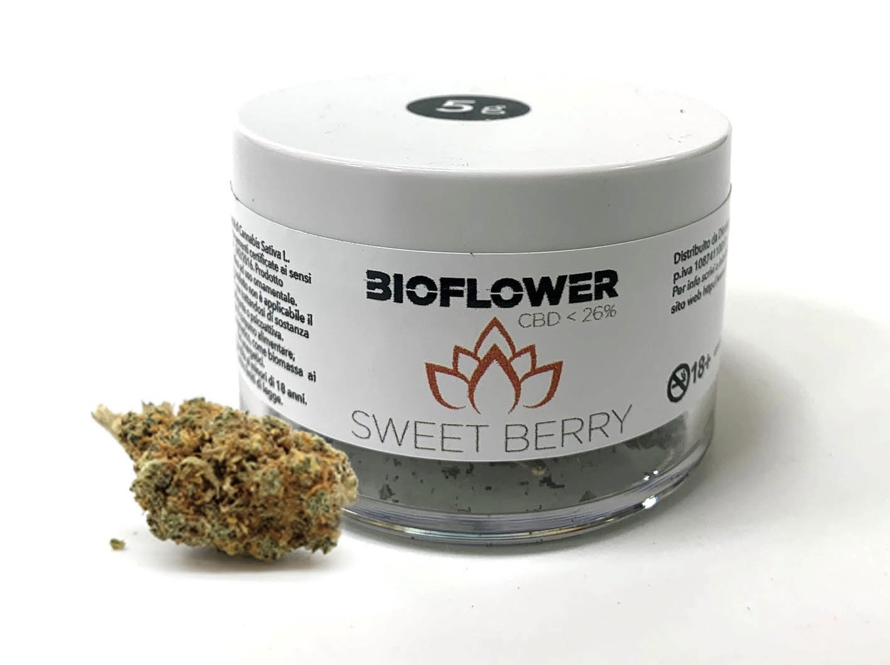 Bioflower Sweet Berry 26% cbd barattolo