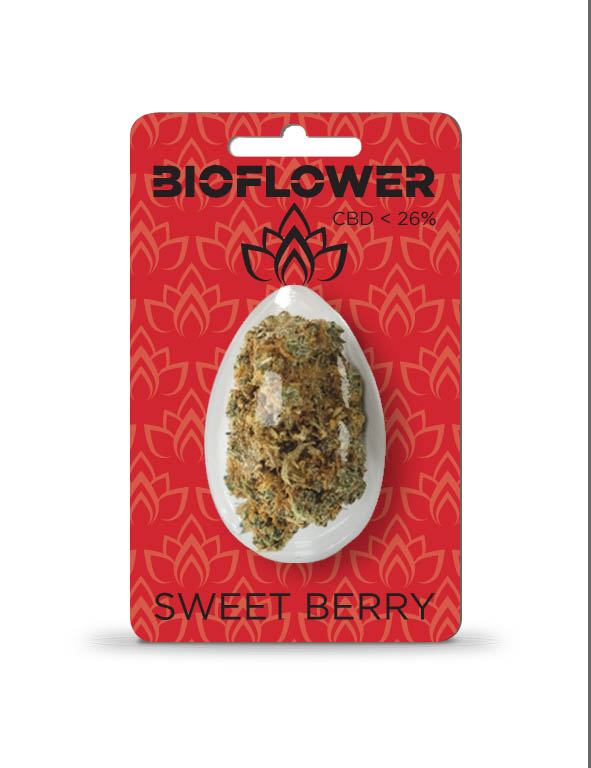 Bioflower Sweet Berry 26% cbd ovetto 1G.