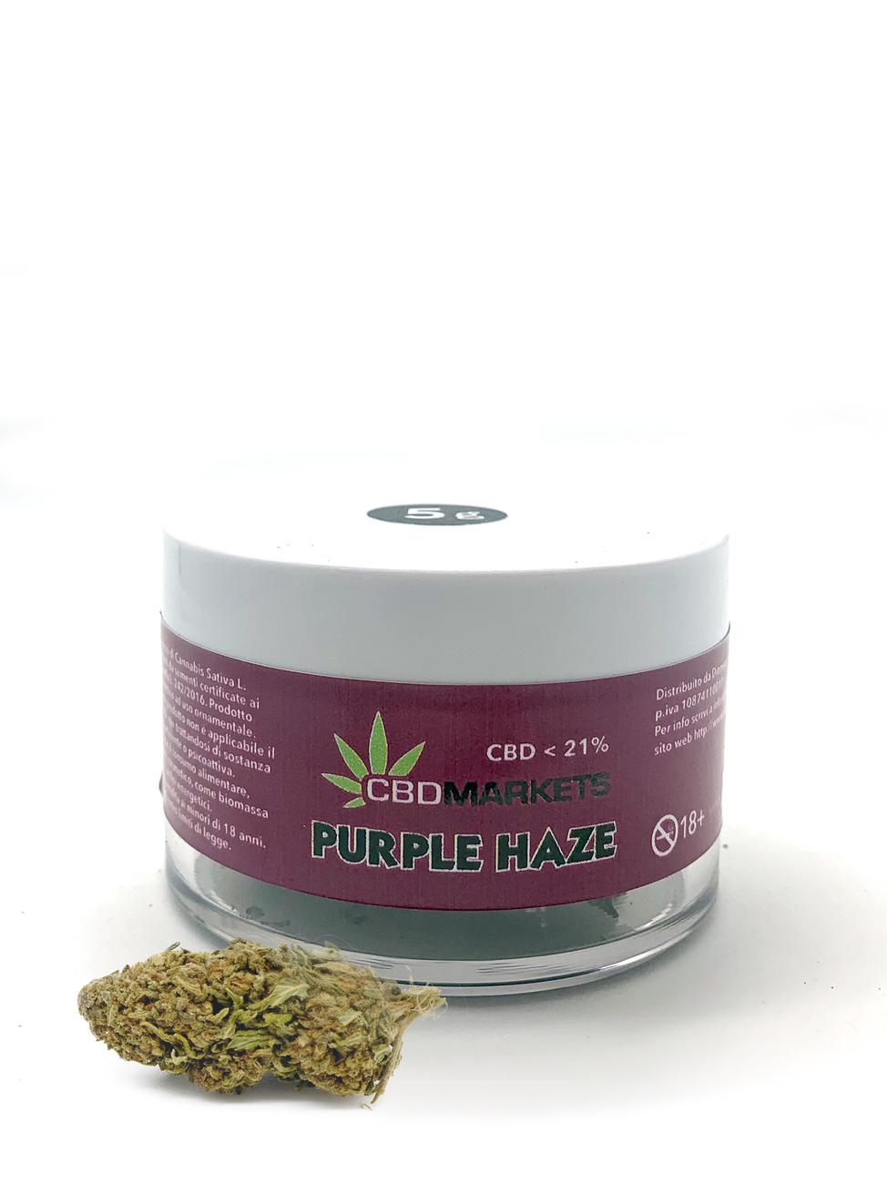 Cbdmarkets Purple Haze barattolo 21% cbd 5G.