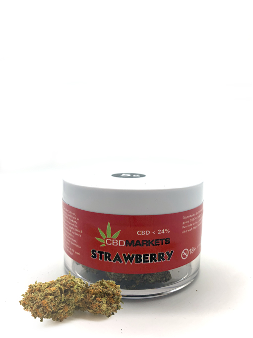 Cbdmarkets Strawberry barattolo 24% cbd